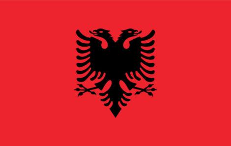 Gæsteflag Albanien