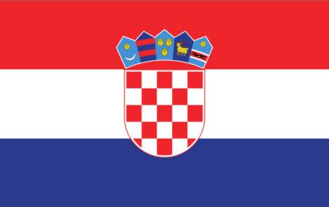 Gæsteflag Kroatien
