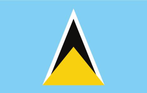 Gæsteflag St. Lucia