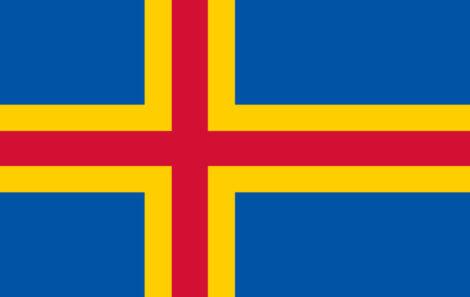 Gæsteflag Ålandsøerne